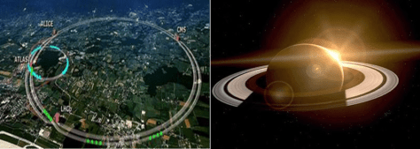 FROM THE RINGS OF CERN TO THE RINGS OF SATURN