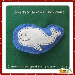 Jesse Tree Ornaments: Jonah & the Whale