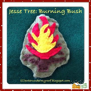 Jesse Tree Ornaments: Burning Bush (Moses)
