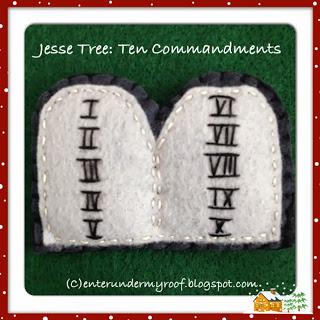 Jesse Tree Ornaments: Ten Commandments