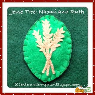 Jesse Tree Ornaments: Naomi and Ruth