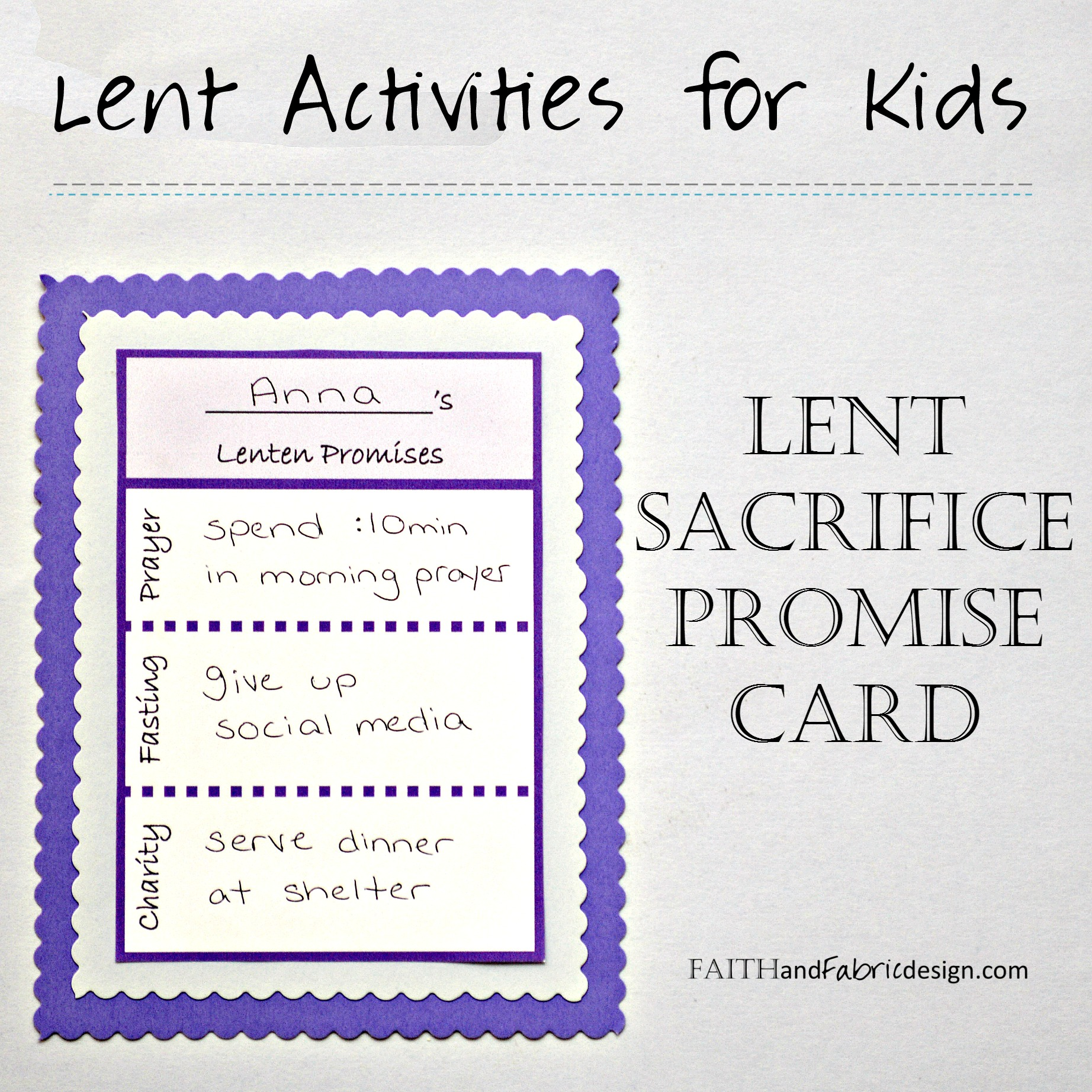 Activity Lent Promise Card For Families Free Printable Faith And Fabric