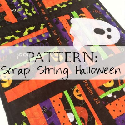 Pattern: Scrappy Halloween Table Runner Quilt