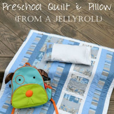 Quilting: Preschool Quilt and Pillow from Jelly Roll
