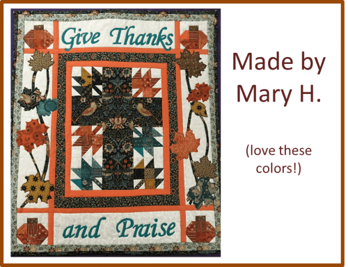 Christian Thanksgiving Quilt Mary H