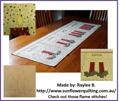 Faith and Fabric - Catholic Advent Quilt made by Raylee B