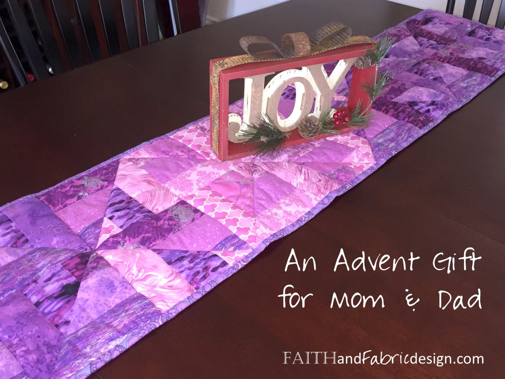 Faith and Fabric - Advent Runner made in Blocks