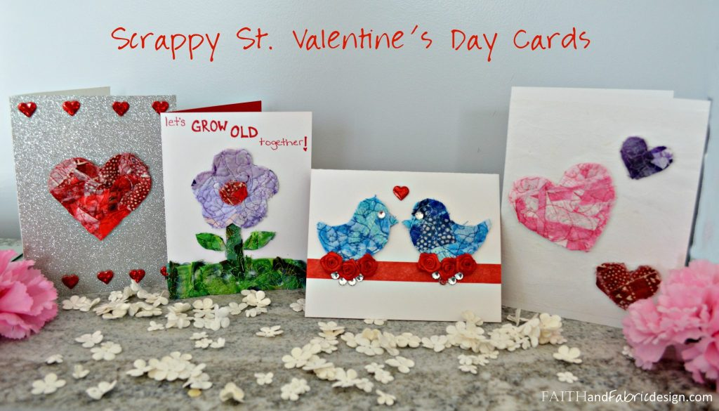 Faith and Fabric - Saint Valentine's Day Quilt Scrap Cards