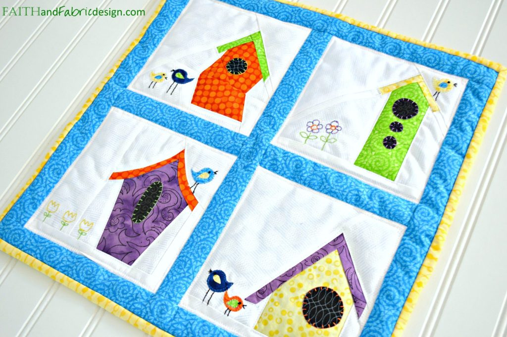 Birdhouse Quilt For the Birds Pattern