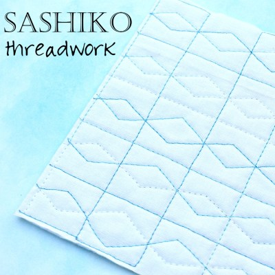 Mighty Lucky Quilting Challenge: Sashiko Stitching