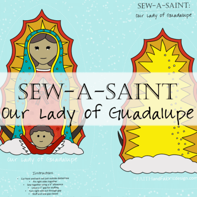 Fabric: Our Lady of Guadalupe Sew-a-Saint