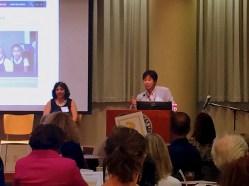 Lisa Gustaveson and Kollin Min, Program Officer at the Bill & Melinda Gates Foundation