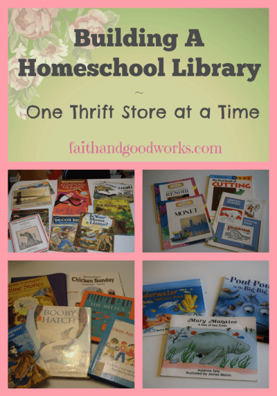 Building a homeschool library 1 faith good works for Ways to cut cost when building a house