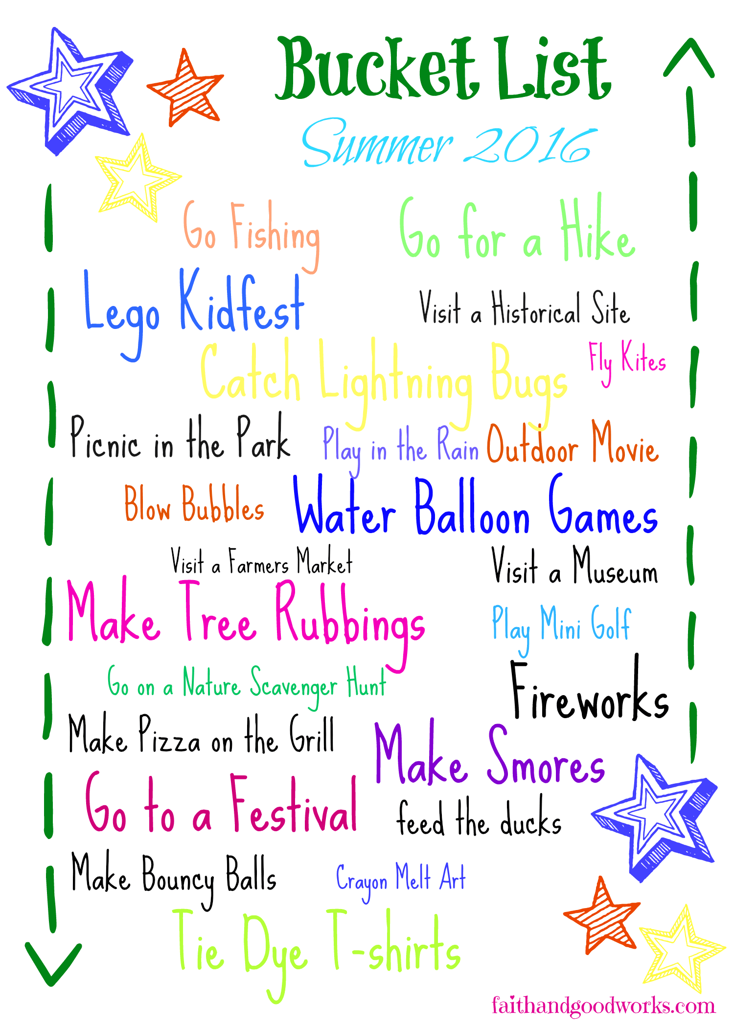 Summer 2016 Bucket List