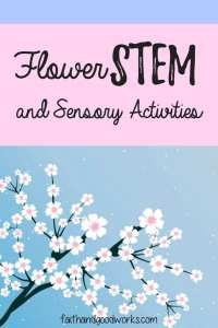 flower stem and sensory activities