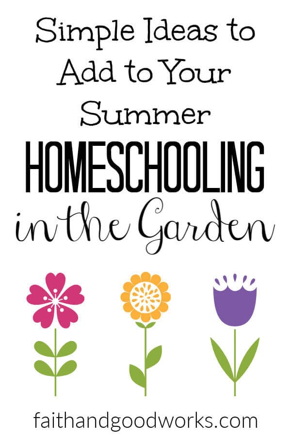 homeschooling in the garden