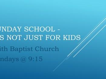 Permalink to: Adult Sunday School