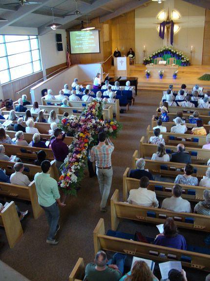 Easter Morning the Flower Cross