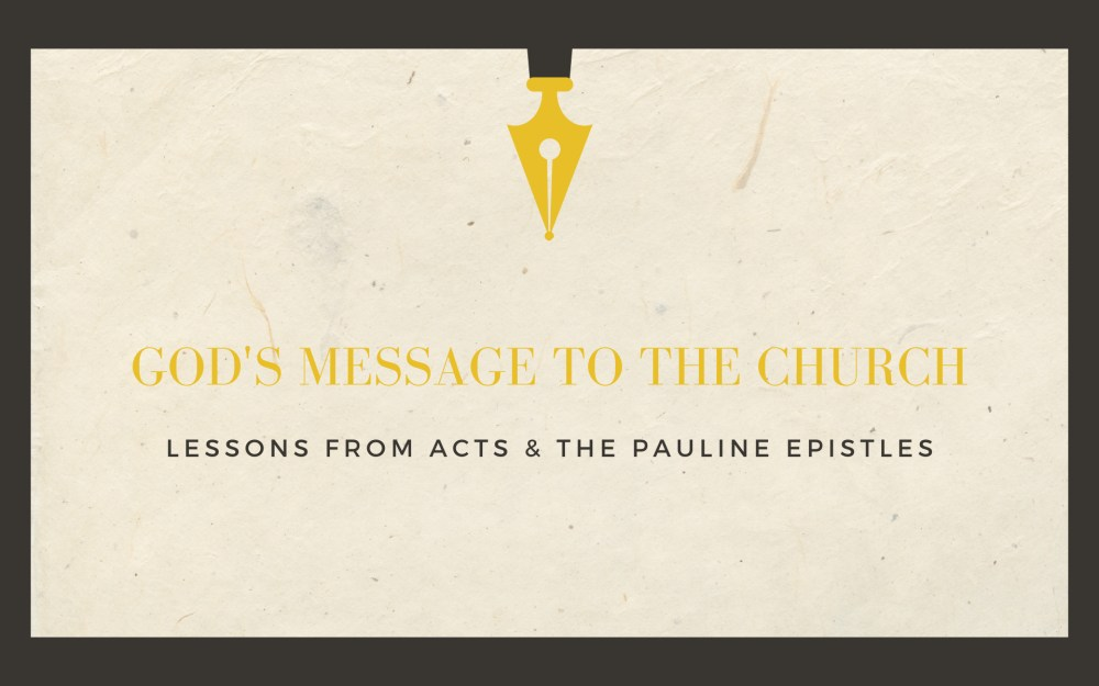God\'s Message To The Church