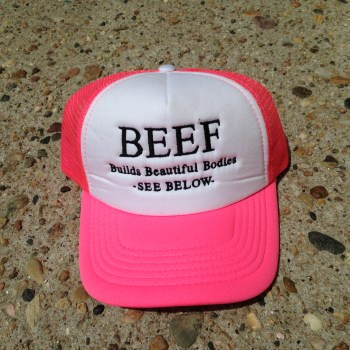 Hot Pink Beef Hat