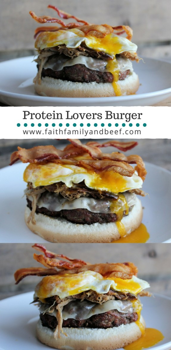 "Protein Lovers Burger - ""protein-packed"" might just be an understatement for this deliciousness!"