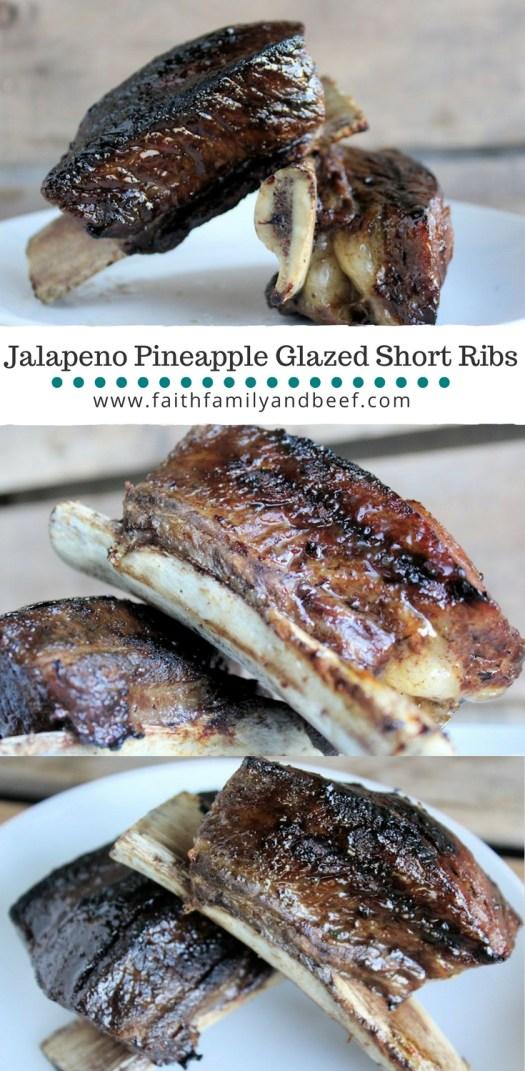 Jalapeno Pineapple Glazed Short Ribs - A delish short rib recipe done on short time.