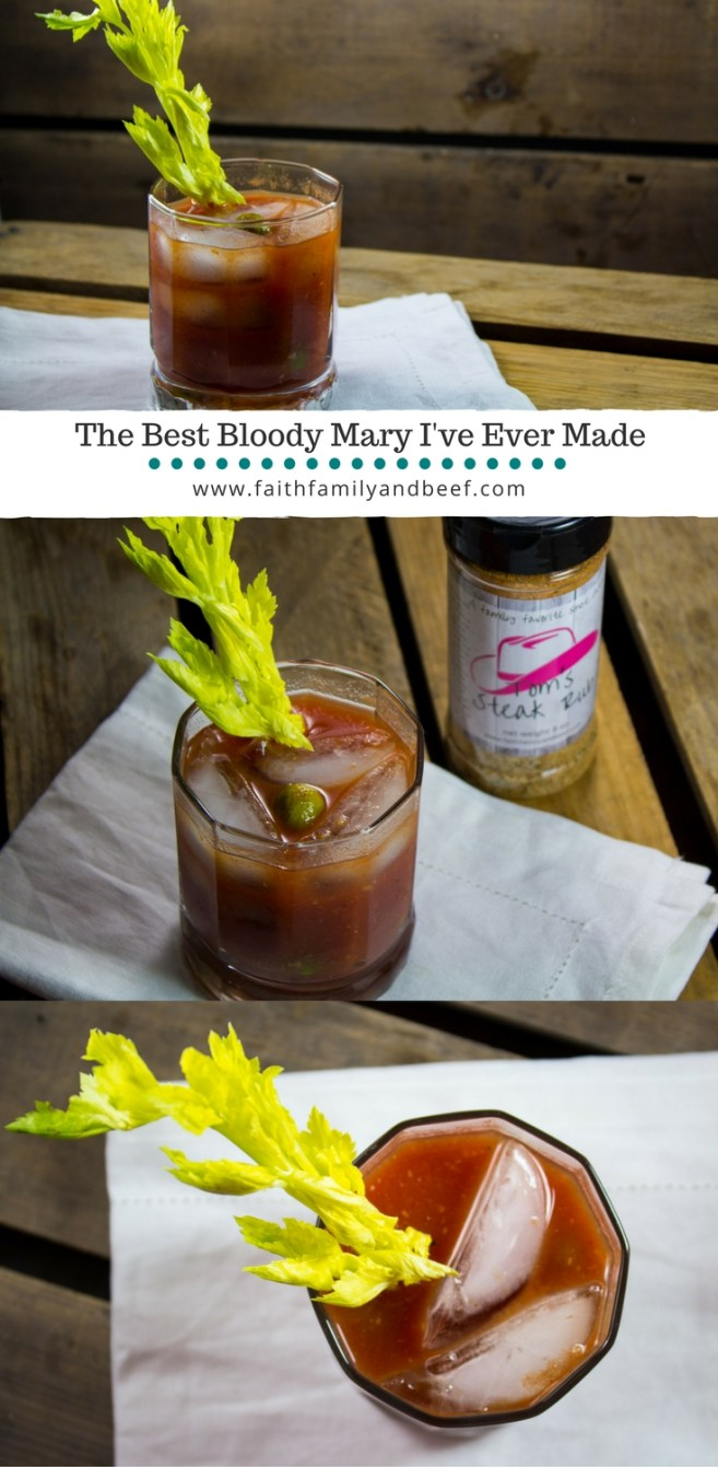 The Best Bloody Mary I've Ever Made - This Bloody Mary is a delicious blend of flavors including Tom's Steak Rub. It's a great mix for a traditional Bloody Mary with vodka, a red beer, or even a non-alcoholic drink.