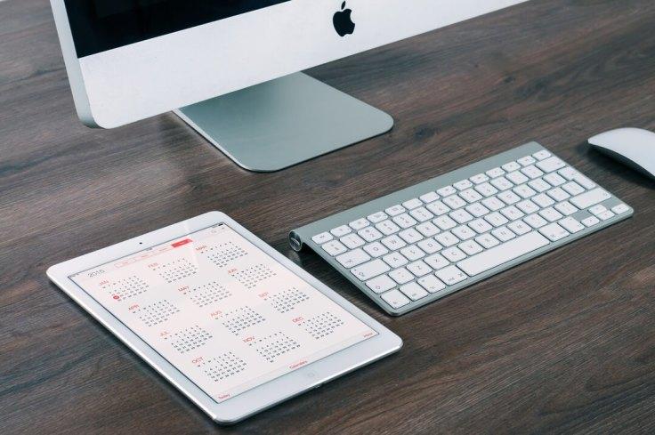 keyboard and calendar