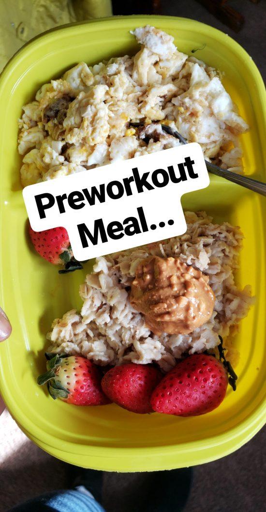 womens figure preworkout meal