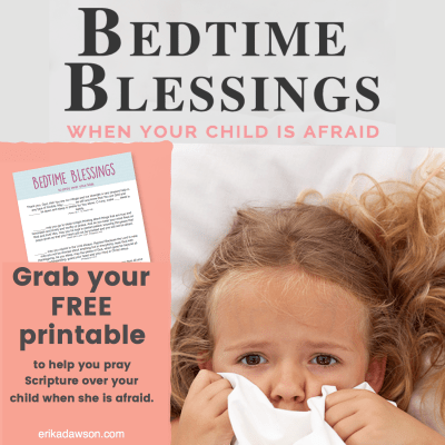 Free Printables for praying when the kids are afraid