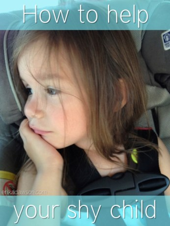 How to help your shy child