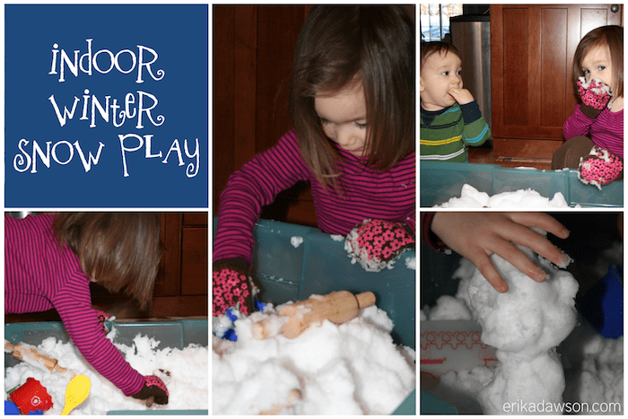 Indoor Winter Snow Play {erikadawson.com}