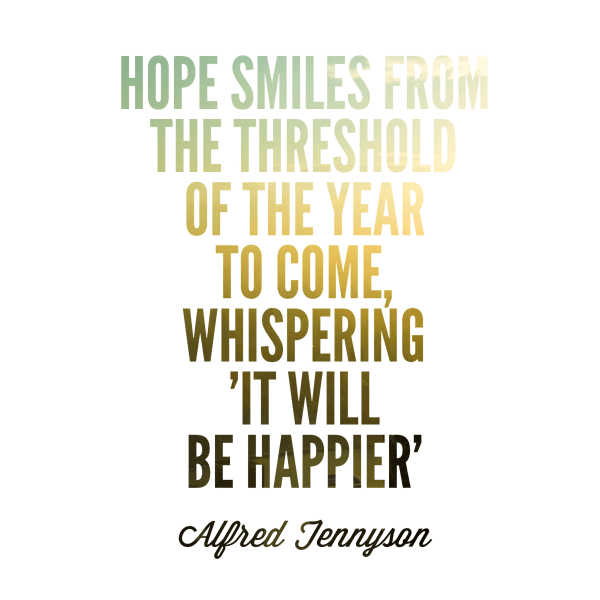 Hope quote by Tennyson