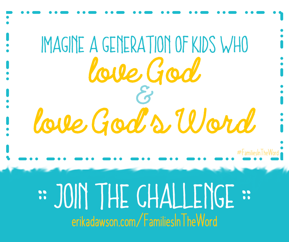 let's work together to get #familiesintheWord every day!!