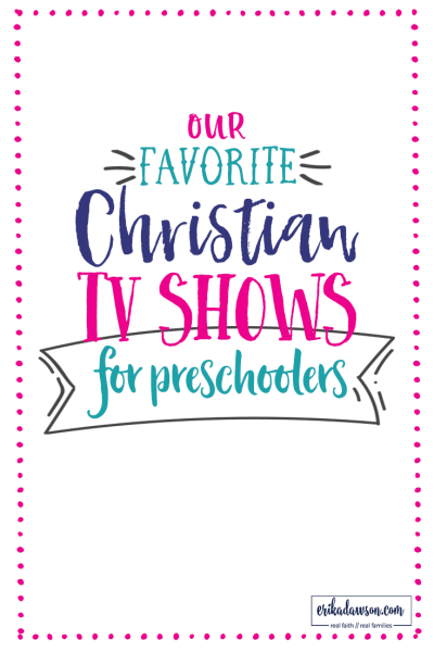 list of Christian TV shows for preschoolers // great faith-based entertainment options