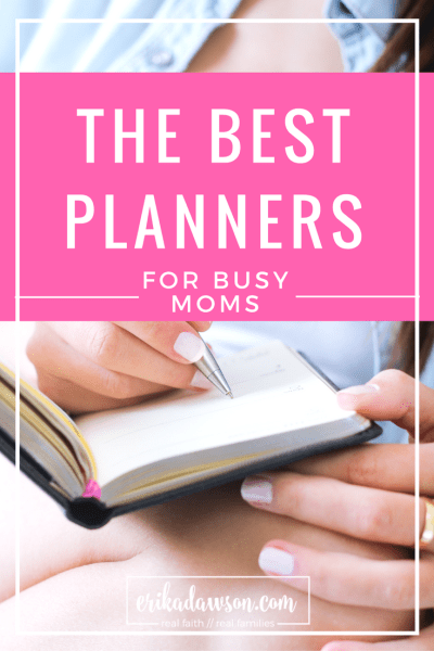 so many great options for planners for busy moms!!