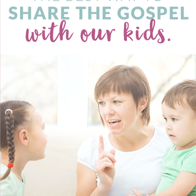 awesome video about how to really share the gospel with our kids