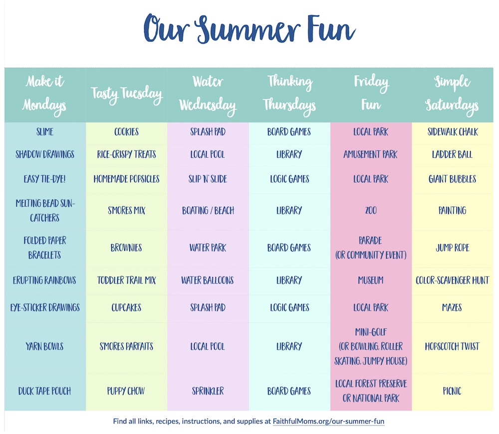 Summer planned for me!!! Summer Survival Guide with activities for the WHOLE family ALL Summer!!
