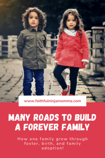 Many Roads to Build a Forever Family. How one family grew through foster, birth, and family adoption!