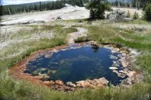 Hot spring near mud volcano