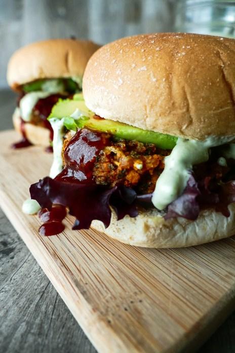 Bbq Sweet Potato Kale Burgers With Creamy Vegan Ranch Faithful Plateful