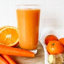 orange carrot ginger smoothie