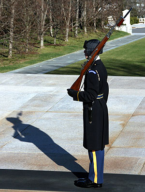 Changing of the Guard at Arlington Cemetery by Mark Alves