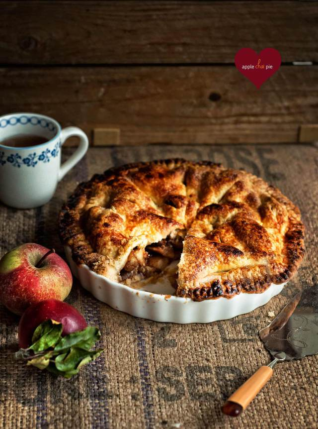 Apple Chai Pie | Faith, Hope, Love, and Luck Survive Despite a Whiskered Accomplice