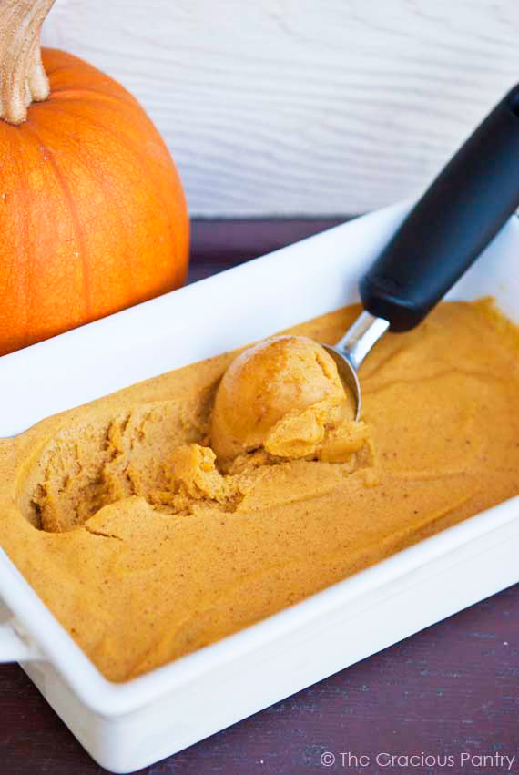 Clean Eating Pumpkin Ice Cream | Faith, Hope, Love, and Luck Survive Despite a Whiskered Accomplice