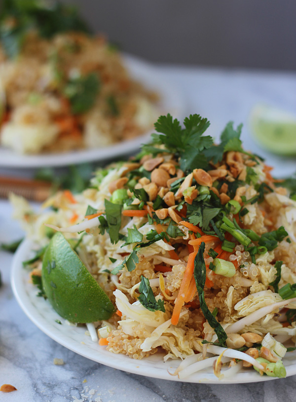 Quinoa Pad Thai | Faith, Hope, Love, and Luck Survive Despite a Whiskered Accomplice