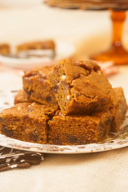 Caramel Pumpkin Brownies | Faith, Hope, Love, and Luck Survive Despite a Whiskered Accomplice