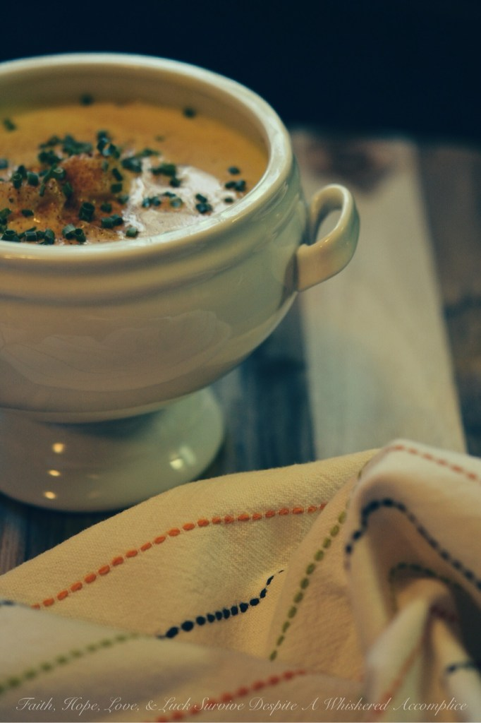 Scallop Half Soup/Half Chowder   Faith, Hope, Love, and Luck Survive Despite a Whiskered Accomplice