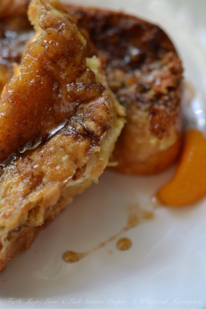 Creme Brûlée French Toast | Faith, Hope, Love, and Luck Survive Despite a Whiskered Accomplice