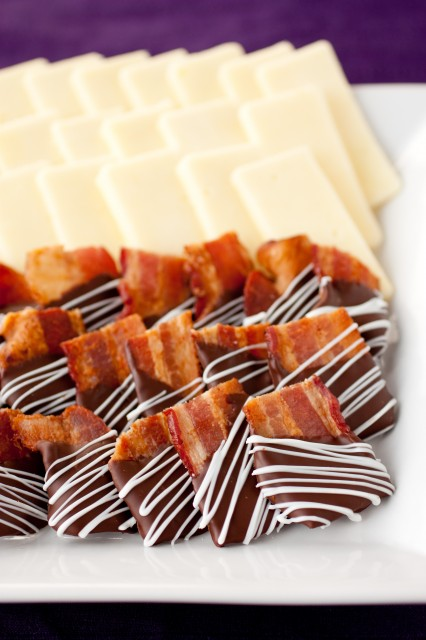 Chocolate Covered Bacon Bites | Faith, Hope, Love, and Luck Survive Despite a Whiskered Accomplice